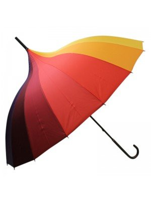 Unisex Rainbow Design Walking Umbrella