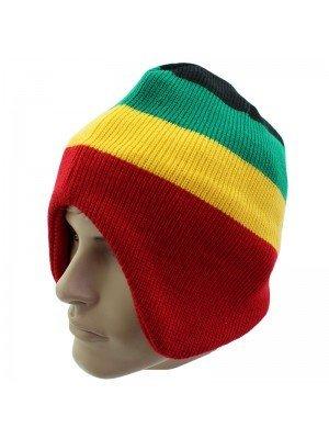 Unisex Rasta Design Knitted Peruvian Hat