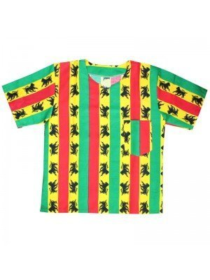 Unisex Rasta Top with Lion Print - One Size