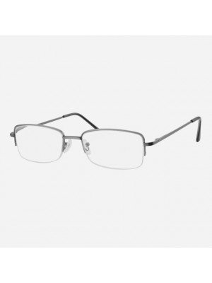 Unisex Semi-Rimless Reading Glasses - Asst. Colours & Strengths