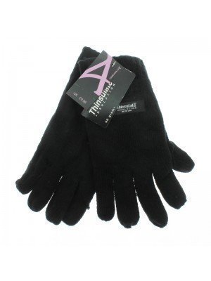 Unisex Thinsulate Knitted Gloves - Black