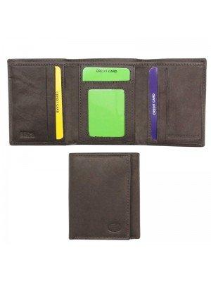 Wholesale Men's Genuine Leather Card Wallet Brown