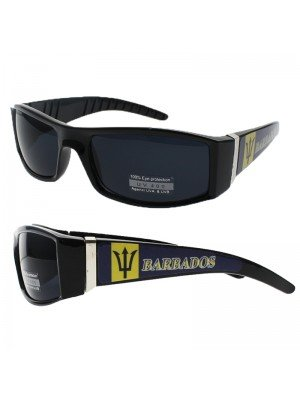 Fashion Sunglasses - Barbados Flag