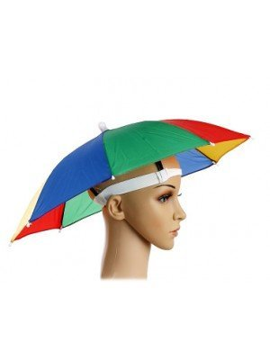 Multi Coloured Umbrella Hat Fancy Dress Accessory