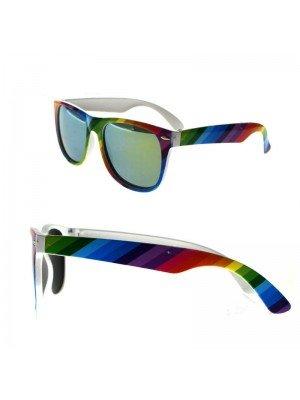 Wholesale Rainbow Sunglasses With Mirror Effect Lense