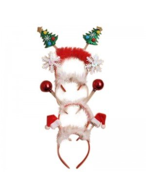 Wholesale Christmas Celebration Headband Deely Boppers - Assorted