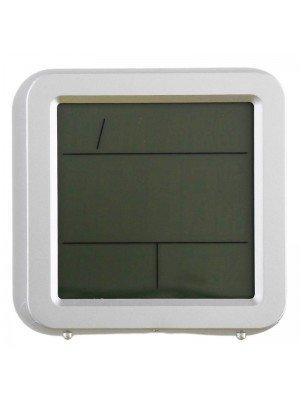 Ravel Quartz LCD Alarm Clock - Grey