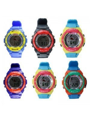 Polit Children's Silicon Strap Watches - Assorted Designs & Colours
