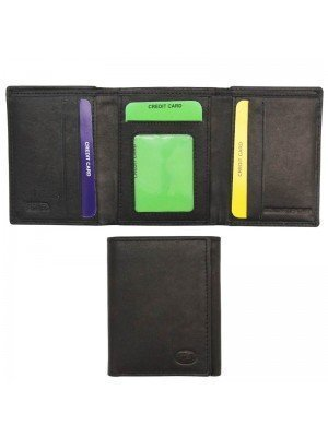 Wholesale Men's Genuine Leather Card Wallet - Black