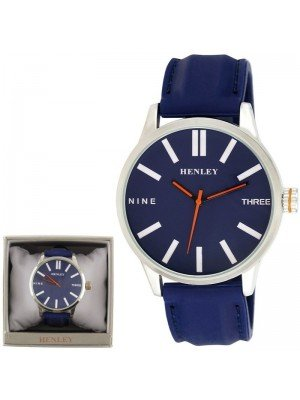 Wholesale Mens Henley Bold Summer Silicone Strap Watch - Blue