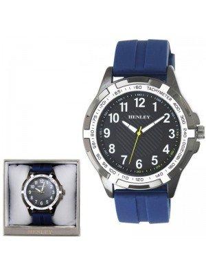Wholesale Henley Mens White Trim Sports Watch - Blue