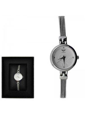 Wholesale NY London Ladies Round Dial Bracelet Metal Strap Watch - Silver
