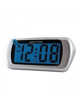 Acctim Auric Alarm Clock - Silver