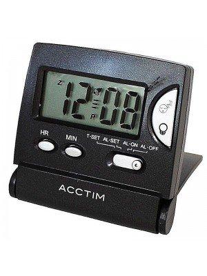 Wholesale Acctim Mini LCD Flip Alarm Clock - Black