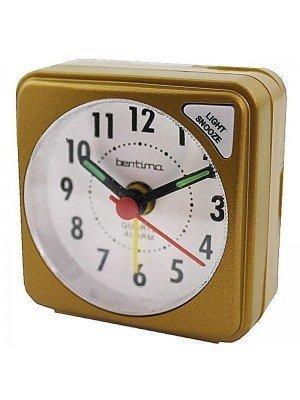 Acctim Ingot Quartz Mini Alarm Clock - Mustard Gold