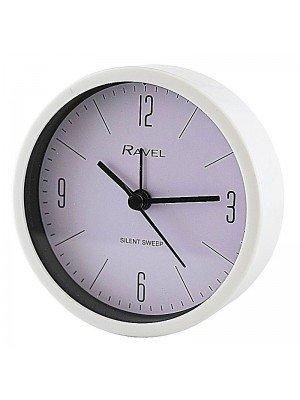 Wholesale Ravel Quartz Plastic Round Alarm Clock - White