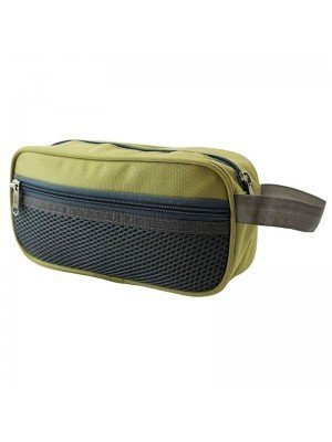 Mustard Pencil Case With 3 Zipper Compartments