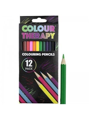 12 Pcs Colouring Pencils - Assorted Colours