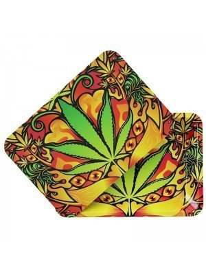 Green Leaf Metal R-Tray With Magnetic Lid - (28.8 x 18.8 cm)