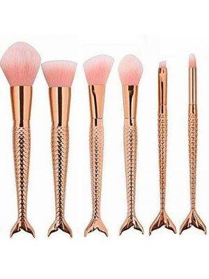 Lilyz Rose Gold Mermaid Design Makeup Brushes Set
