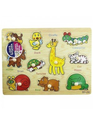 Wooden Animal Matching Educational Toy/Puzzle