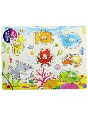 Wooden Under The Sea Matching Educational Toy/Puzzle
