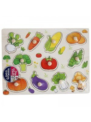 Wooden Vegetable Matching Educational Toy/Puzzle