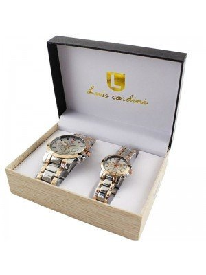 Luis Cardini His & Her Watch Gift Set - PNP Rose (2277)