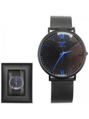 Wholesale Men's NY London Mesh Strap Watch - Black