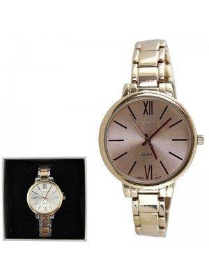 Eton Ladies Fashion Metal Bracelet Watch - Rose Gold