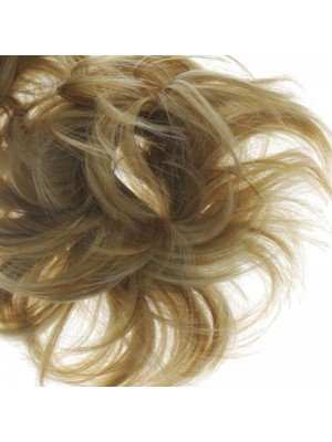Wholesale Synthetic Hair Scrunchies - Brown Blonde