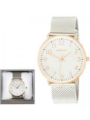 Wholesale Mens Henley Contemporary Numbered Mesh Watch- Rose Gold Tone