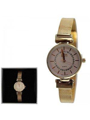 Ladies Eton Fashion Mesh Bracelet Watch - Rose Gold