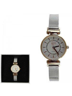 Ladies Eton Fashion Metal Bracelet Watch - Silver & Gold