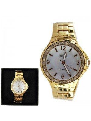 Ladies Eton Round Metal Bracelet Watch- Rose Gold