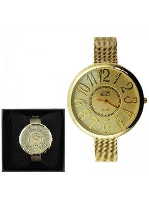Wholesale Eton Ladies Metal Bracelet Fashion Watch - Gold