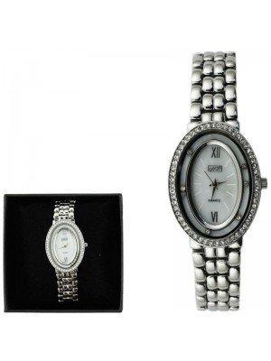 Wholesale Eton Ladies Fashion Metal Bracelet Watch - Silver