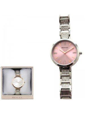 Wholesale Henley Ladies Crystal Bracelet Watch - Silver