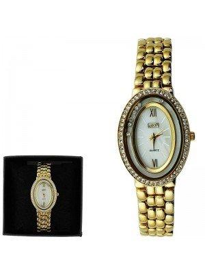 Ladies Eton Fashion Metal Bracelet Watch - Gold