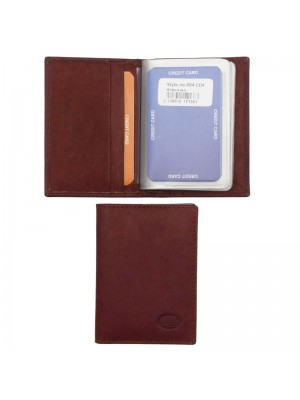 Wholesale Men's Florentino Leather Card Wallet - Red & Brown