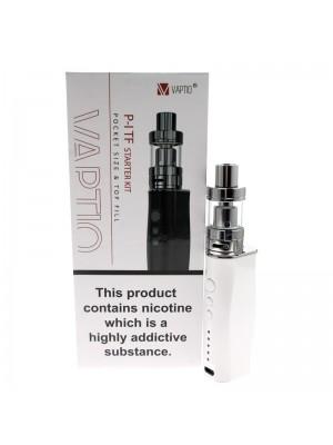 Vaptio P-I TF Starter Vaping E-Cigarette Kit Pocket White