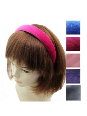 Velvet Alice Headbands - Assorted Colour - 6 Pack