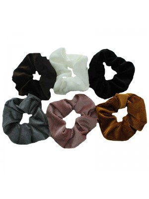 Velvet Hair Scrunchies - 12 Pieces