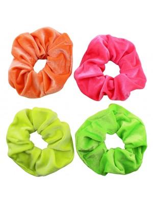 Wholesale Velvet Scrunchies - Neon Colours
