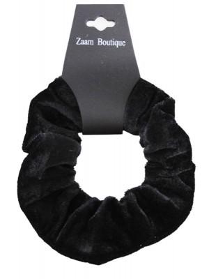 Wholesale Velvet Scrunchies In Black Colour