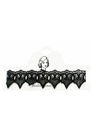 Victorian Style Vintage/Retro Choker Necklace Black Lace