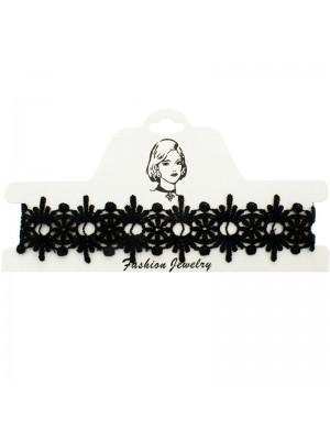 Vintage/Retro Choker Necklace Black Lace- Floral Design