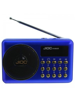 Vintage Digital FM Radio & and Music Player - Blue & Gold