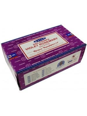 Wholesale Satya Nag Champa Violet Rosemary Incense Sticks