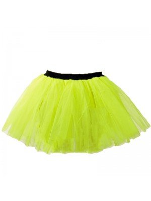 Neon Yellow Tutus Skirt
